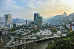 Mening van Gemeente Chongqing, Centraal China royalty-vrije stock fotografie