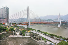 Mening van Gemeente Chongqing, Centraal China royalty-vrije stock afbeelding