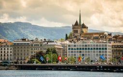 Mening van Genève Royalty-vrije Stock Afbeeldingen
