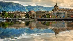 Mening van Genève Royalty-vrije Stock Foto