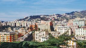 Mening van Genoa Italy royalty-vrije stock foto