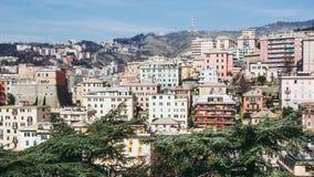 Mening van Genoa Italy stock afbeelding