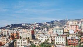 Mening van Genoa Italy royalty-vrije stock afbeelding
