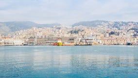 Mening van Genoa Italy van het overzees royalty-vrije stock foto's