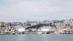 Mening van Genoa Italy van het overzees stock foto's