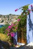Mening van Gialos, Griekenland Stock Foto's