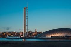 Mening van Glasgow Tower en de stad stock foto