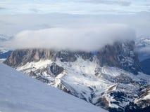 Mening van gletsjer Marmalada in Dolomities Stock Afbeelding