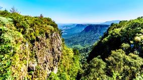 Mening van Gods` s Venster over highveld langs de Panoramaroute in Mpumalanga-Provincie royalty-vrije stock afbeeldingen