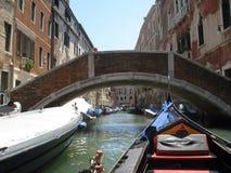 Mening van gondel Venetië Italië Royalty-vrije Stock Fotografie