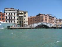 Mening van gondel Venetië Italië Stock Fotografie