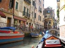 Mening van gondel Venetië Italië Royalty-vrije Stock Afbeeldingen