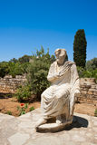 Mening van Gortyn. Kreta, Griekenland stock afbeelding