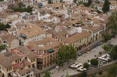 Mening van Granada royalty-vrije stock afbeeldingen