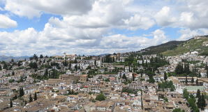 Mening van Granada, Spanje Royalty-vrije Stock Afbeeldingen