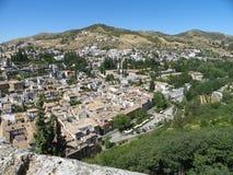 Mening van Granada van Alhambra Stock Afbeelding