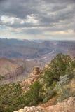 Mening van Grand Canyon van de zuidenrand Royalty-vrije Stock Foto's