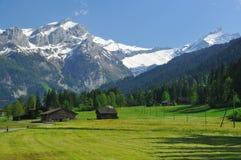 Mening van Gstaad stock foto