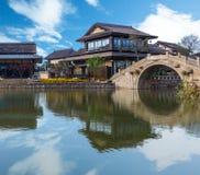 Mening van Gubei-waterstad in Peking Royalty-vrije Stock Afbeelding