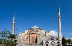 Mening van Hagia Sophia, Christelijke patriarchale basiliek, keizermoskee en nu een museum Istanboel, Turkije royalty-vrije stock foto's