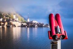 Mening van Hallstatt in de Alpen Royalty-vrije Stock Afbeeldingen