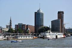 Mening van Hamburg in Duitsland Stock Afbeelding