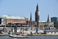 Mening van Hamburg in Duitsland Stock Foto