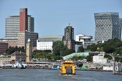 Mening van Hamburg in Duitsland Royalty-vrije Stock Foto