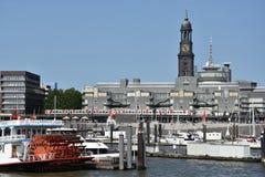 Mening van Hamburg in Duitsland Stock Foto's