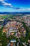 mening van Hansestadt Greifswald stock afbeeldingen