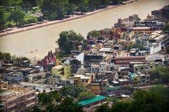 Mening van Haridwar, Uttarakhand, India Stock Afbeelding