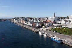 Mening van Haugesund noorwegen Stock Afbeeldingen