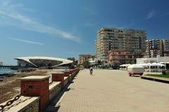 Mening van Haven van Durres, Albanië Royalty-vrije Stock Afbeelding