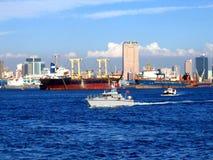 Mening van Haven Kaohsiung in Taiwan stock foto