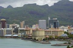 Mening van Haven Louis, Mauritius Royalty-vrije Stock Fotografie
