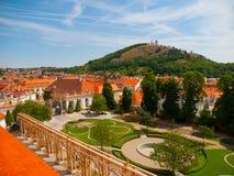 Mening van Heilige Heuvel van Mikulov-Kasteel royalty-vrije stock foto's