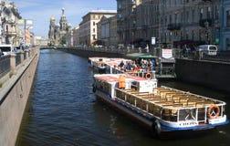 Mening van heilige-Petersburg stad, Rusland Stock Foto's