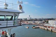 Mening van Helsinki van de veerboot royalty-vrije stock fotografie