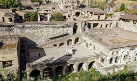 Mening van Herculaneum, Napels Stock Fotografie