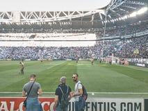 Mening van het Allianz-Stadion, het Juventus-huisgebied stock foto's