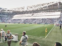 Mening van het Allianz-Stadion, het Juventus-huisgebied royalty-vrije stock afbeelding