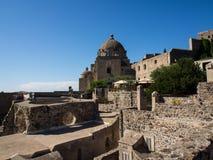 Mening van het Aragonese-Kasteel Royalty-vrije Stock Afbeelding