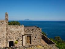 Mening van het Aragonese-Kasteel Royalty-vrije Stock Foto's
