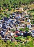 Mening van het bergdorp van Piodao Royalty-vrije Stock Foto