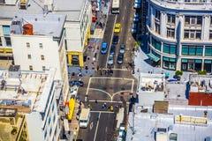 Mening van het dak aan de stad Stock Afbeelding