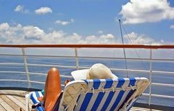Mening van het Dek van de Cruise stock foto