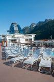Mening van het dek van het cruiseschip royalty-vrije stock foto's
