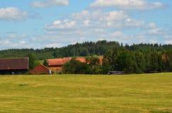 Mening van het dorp Stock Foto