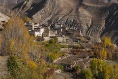 Mening van het dorp Jhong Stock Afbeeldingen