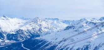 Mening van het dorp St Moritz Royalty-vrije Stock Fotografie